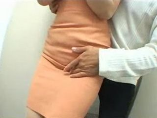 Asian Mature MILF Secretary Attacked In Company Toilet By Her Young Colleague