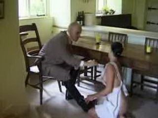 Older Boss Molesting Young Maid