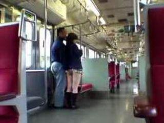 Japanese Teen Surprised In Train