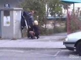 Real Hooker Giving Blowjob In Public By The Road