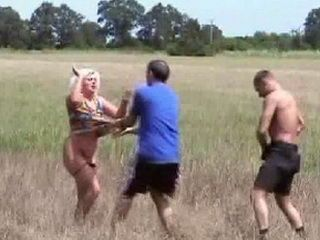 Mature Woman Brutally Fucked In The Field By Two Villagers - Rape Fantasy