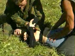 Soldiers Brutally Fuck Captured Enemy Girl In The Field - Rape Fantasy