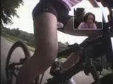 Asian Teen  Masturbate While Ridding Bicycle