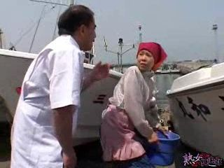 Angry Old Sailor Fucks Granny Boat Cleaner Lady