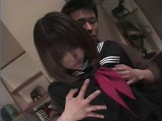 Cute Japanese teen Abused By Elder Guy Uncensored