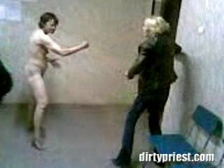 Crazy Naked Kung Fu Grandma Goes Crazy In A Police Station