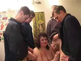 Russian Mature Marina Gangbanged By Bunch Of Boys