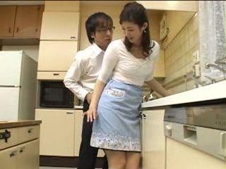 Nerd Boy Attack Uncles Wife in Kitchen