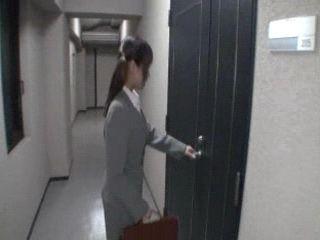 Japanese Teen Secretary Abused For Tekoki In Office At Job Interview