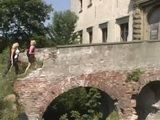 Lost Teen Tourists Dped In a Ruined Castle By Locals