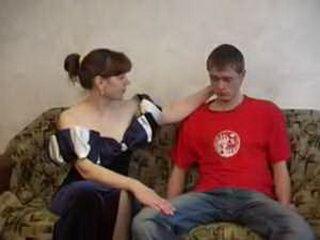 Russian Mature Fucks Her Neighbors Son