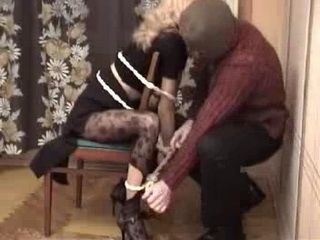 Woman Tied For Chair And Brutally Fucked by Robber Rape Fantasy