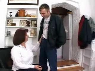 Mature Mom Fucks Skinny Boy