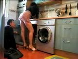 Amateur Housewife and Plumber Hidden Cam