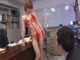 MILF Secretary In Sexy Red Lingerie Gets Fucked In Office By Her Boss
