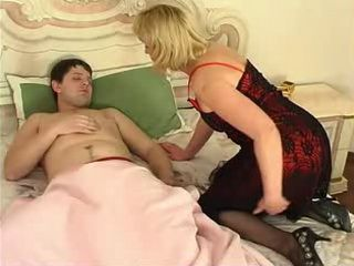 Russian Mom Wake Up Sleeping Son For Morning Anal Fuck
