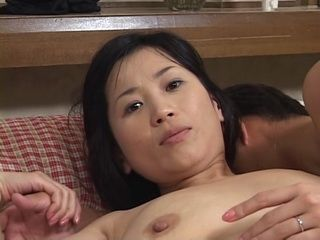Japanese aunt fucks young nephew
