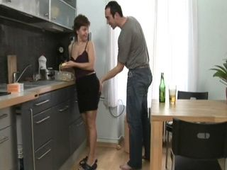 Mother In Law Gets Laid In Kitchen