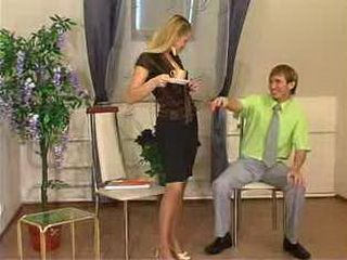 Young Secretary Seduces Principals Son