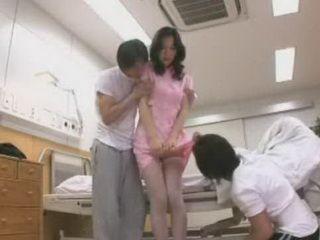 Japanese Nurse In Patients Sandwich