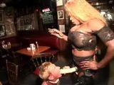 Black Bodybuilder Domina Mistress Fucks White Gay With Strap On In Bar