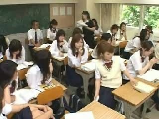 Japanese Classroom Jerking and Fucking in School Toilet