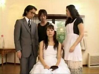 Maid Teaches Bride and Broom How To Fuck