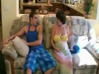 Pregnant Step Mother Seduces and Fucks Stepsons Best Friend
