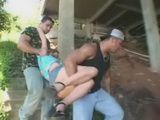 Guys Abused Bondage Blonde Girl Under The Bridge
