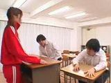 Double Blowjob In Japanese Classroom