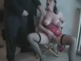 Grandpa Caught His Granny Masturbate On Chair