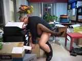 Boss Fucks Mature Busty Secretary In Ass Like a Lunatic
