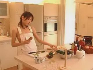 Japanese Teen In Kitchen