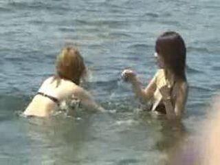 Asian Girls On The Beach
