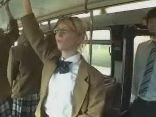 Japanese Man In Female School Bus