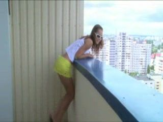 Amateur Teen Fucked On A Balcony