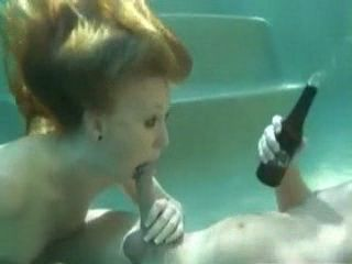 Beer Sun and Awesome Underwater Sex In Pool