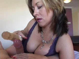 Amateur Mature Wife Makes her Husband Cum With Her Rabbit Vibrator