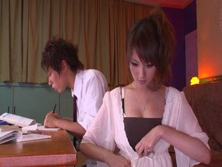 Private Teacher Decide To Reward Her Student Boy For Hard Work