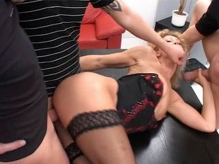 Mature Secretary Dped and Anal Fucked Hard At Office