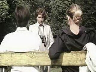 Retro Maniac Molesting Couple In Park