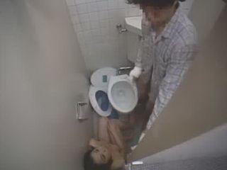 Japanese Cleaner Fucked In Hospital Toilet