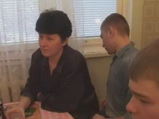 Russian Boys Brought Mature Mom To Have Fun