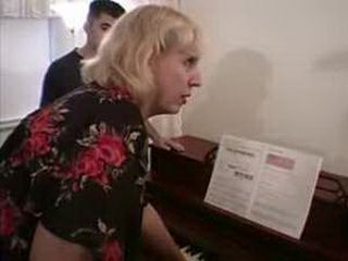 Piano Teacher Fucked By Father And Son