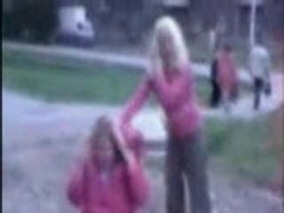Teen Girls Fight In Park