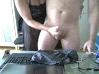 Handjob by ex GF on the livecam