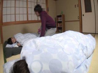 Sleeping Mom Awaken and Fucked By Boy Beside Her Sleeping Husband