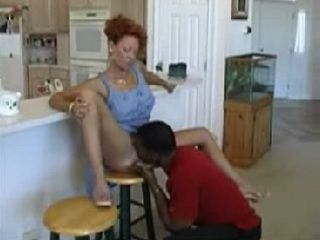 Hot MILF Abuse Her Sons Black Friend