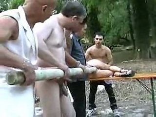 Extremely Humiliated In Woods By Four Guys