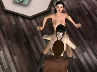 3D shemale hentai threesome fucked